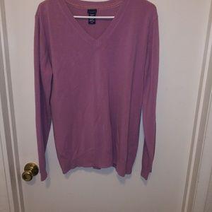 Purple long sleeve v-neck